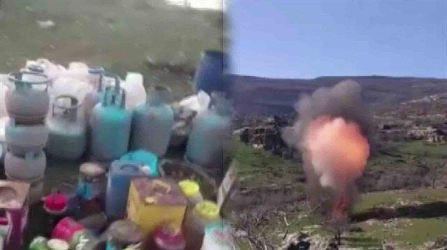 Diyarbakır'da teröristlerin inleri böyle imha edildi