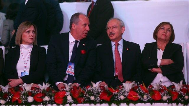 CHP Genel Başkanı Kemal Kılıçdaroğlu ve kurultaydaki rakibi Muharrem İnce