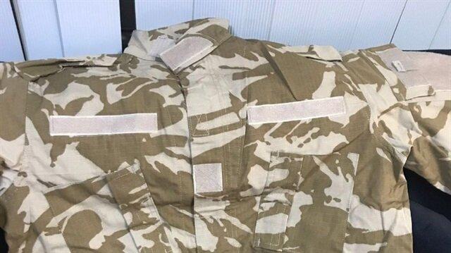 Hatay'da teröristlere gönderilen askeri kamuflajlar ele geçirildi