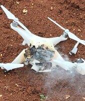 Teröristlerin kullandığı 'drone' düşürüldü
