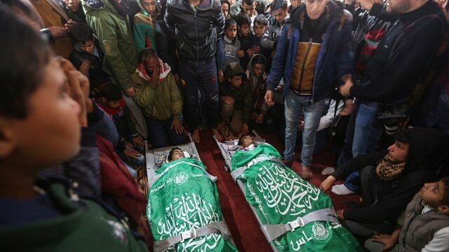 Funeral of two Gazans martyred in Israeli raids
