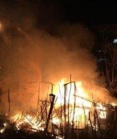 Fatih'te korkutan yangını