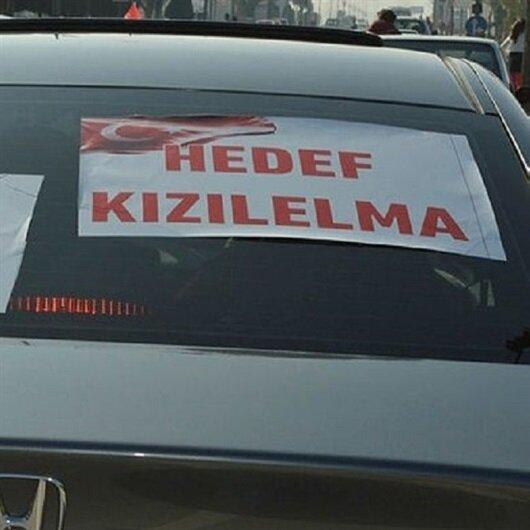 Sürücülerden Afrin'e destek