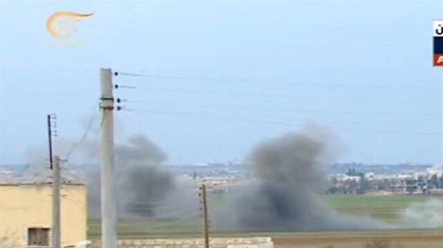 TSK Esed'e bağlı milisleri Afrin'e girdiği sırada vurdu