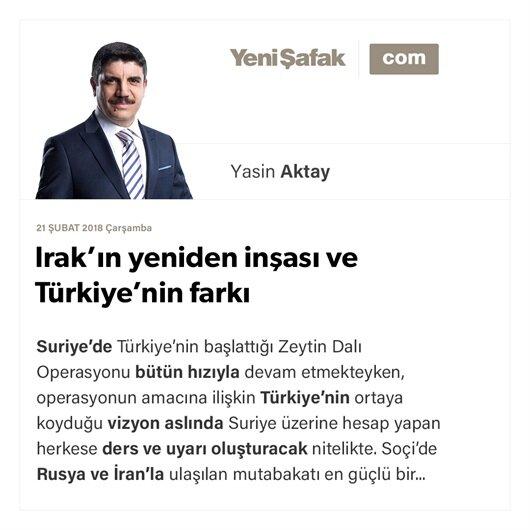 Irak'ın yeniden inşası ve Türkiye'nin farkı