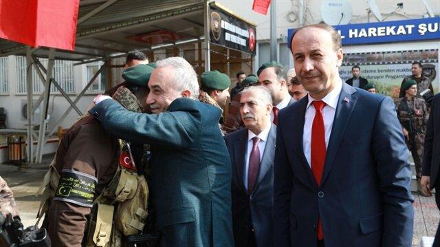 Bakan Fakıbaba PÖH'leri Afrin'e böyle uğurladı