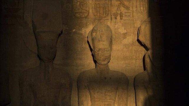 Solar phenomenon illuminates face of Egypt's Ramses II