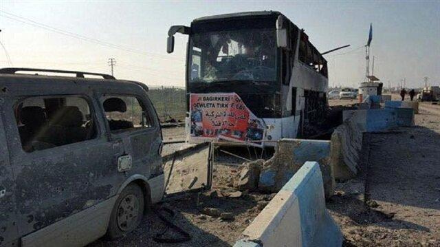 İşte dün gece Afrin'de vurulan PKK konvoyu
