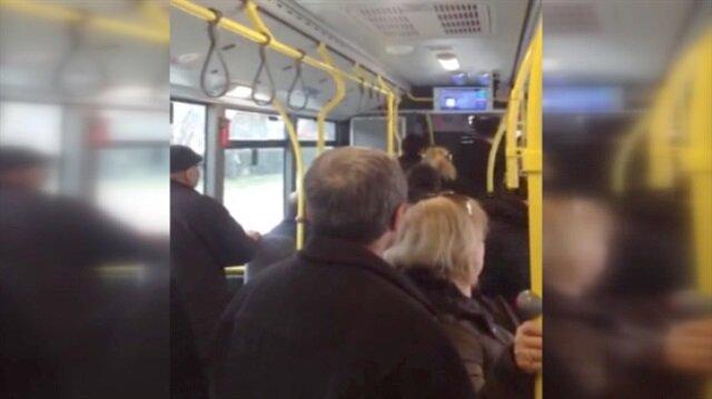 Otobüste gerginlik: 40 dakika yolcuları indirmedi