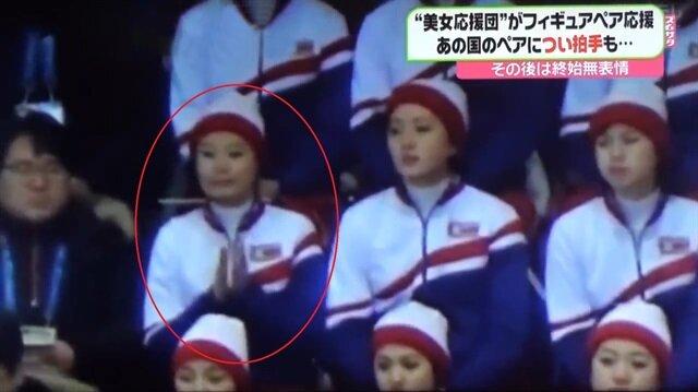 Kuzey Koreli kız ABD'lileri alkışlayınca bakın ne oldu
