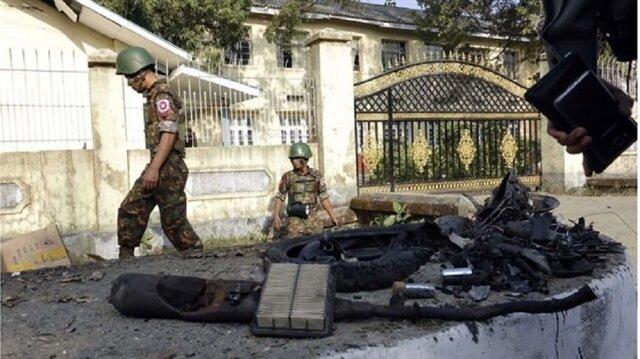 Myanmar: 3 bomb blasts hit capital of restive Rakhine