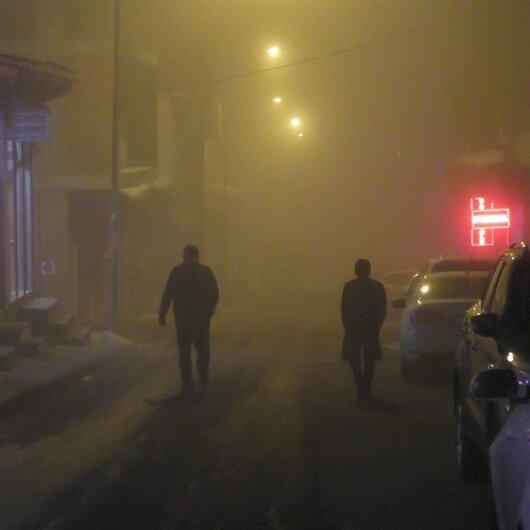 Ardahan'da sis yaşamı olumsuz etkiledi