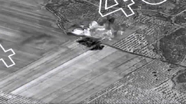 وتستمر الدبابات التركية في استهداف أوكار العناصر الإرهابية في إطار عملية 'غصن الزيتون'..
