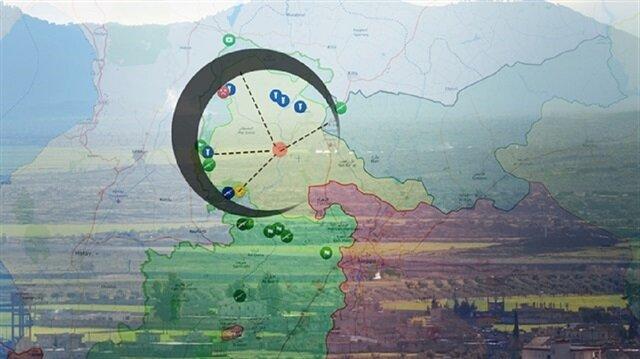 الهلال التركي اكتمل على الحدود مع عفرين.. وصل المناطق المحرّرة ببعضها