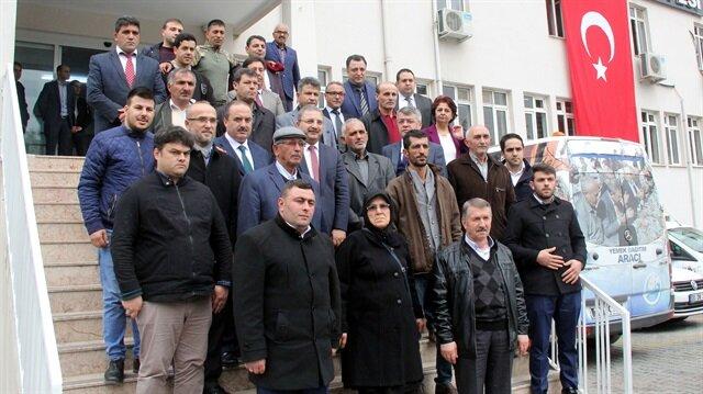Şehit aileleri Zeytin Dalı Harekatı'na destek için Hatay'da