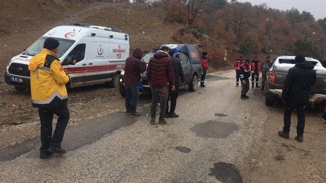 Dağda mahsur kalan 5 kişi, jandarmanın çalışmaları sonucu kurtarıldı