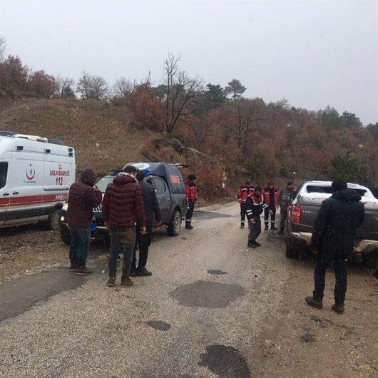Dağda mahsur kalan 5 kişi kurtarıldı