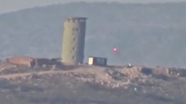 Teröristlerin attığı roket Kulekol'a bakın ne kadar zarar verdi