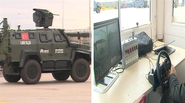 Footage of Turkish-made unmanned armored vehicle revealed