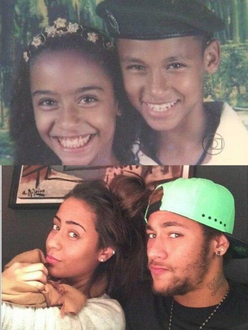 NEymar kız kardeşi Rafaella'ya son derece düşkün.