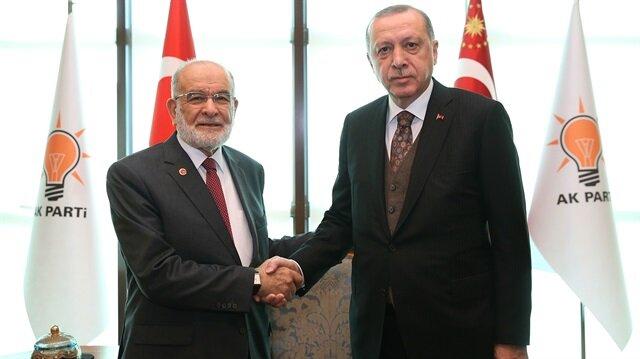 Erdoğan'dan Saadet Partisi'ne seçim ittifakı için açık kapı