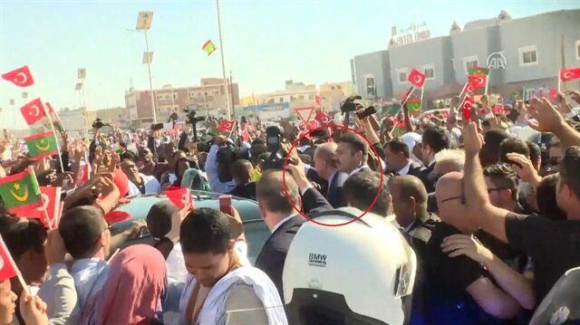 Moritanya'da Erdoğan böyle karşılandı!