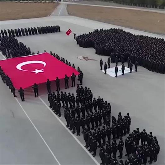 Komiser Yardımcısı adaylarından Afrin'deki Mehmetçik'e selam