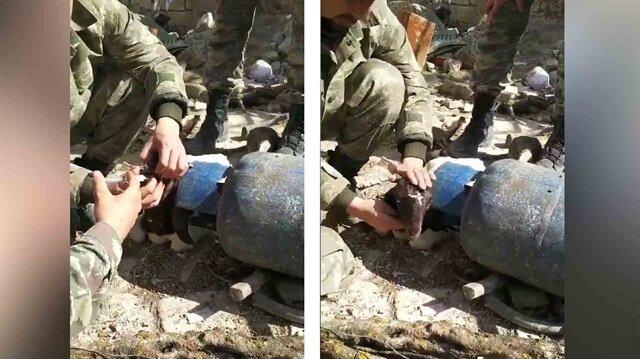 Mehmetçik, teröristlerin zehirlediği hayvanları tedavi ediyor