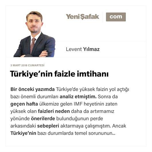 Türkiye'nin faizle imtihanı