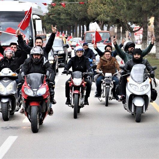 Isparta'da Zeytin Dalı Harekatı'na destek konvoyu