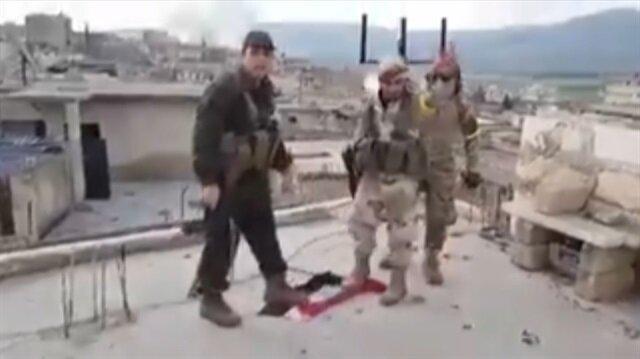 Ele geçirilen Raco'dan sıcak görüntüler: Rejim bayrağı ayaklar altında