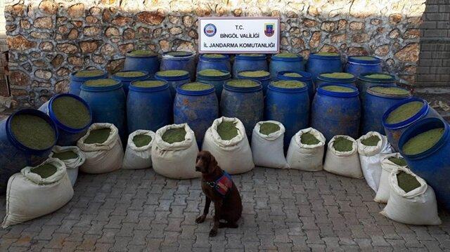 Bingöl'de teröristlere ait mühimmatlar