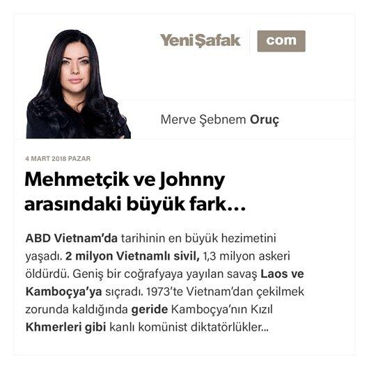 Mehmetçik ve Johnny arasındaki büyük fark...