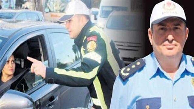 Bolu'da amirin trafik cezasını müdür kesti.