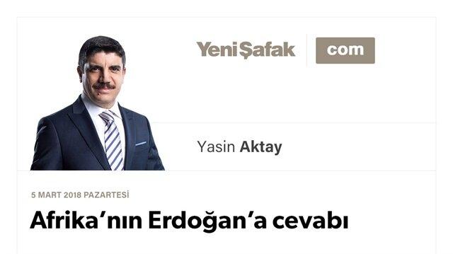 Afrika'nın Erdoğan'a cevabı
