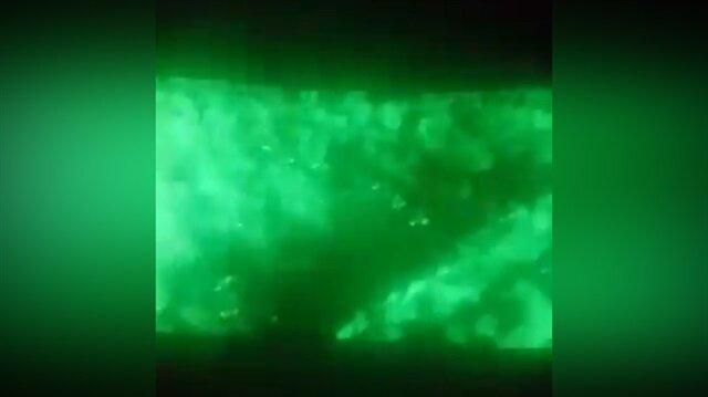 Afrin'de sızmaya çalışan teröristler böyle vuruldu!