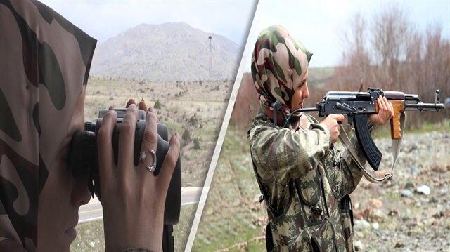 Kadın korucu, vatan aşkıyla PKK'ya karşı mücadele veriyor
