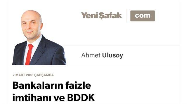 Bankaların faizle imtihanı ve BDDK