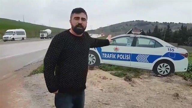 Maket trafik polisini gerçek sanan ehliyetsiz adamın dramı