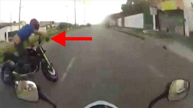 Hız tutkunu motosikletlilerin yarışı faciayla bitti