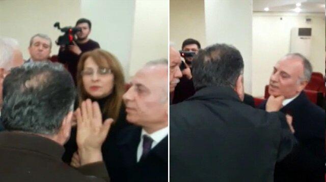 CHP'li üye MHP'li kadın meclis üyesinin üzerine yürüdü!