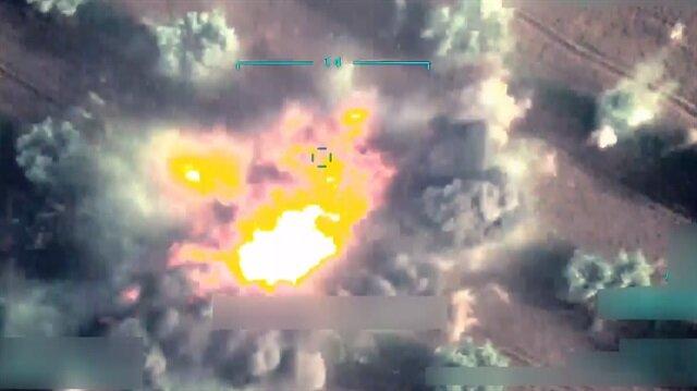 Afrin'deki terör örgütü PKK/PYD'nin sivilleri katlettiği anlar görüntülendi