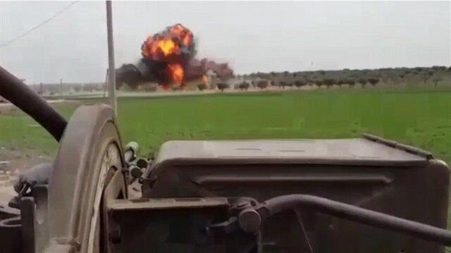 TAF, FSA destroy PKK/PYD terrorists' arsenal in Jandaris