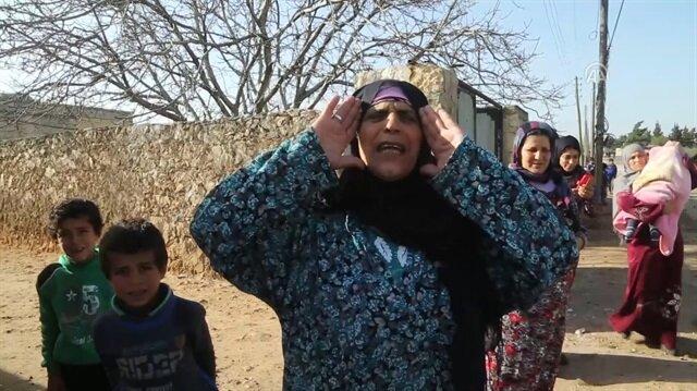Afrinli kadınlar ÖSO'yu zılgıtlarla karşıladı