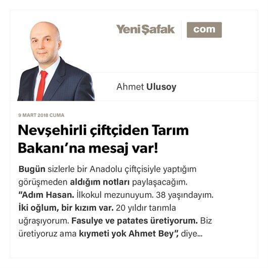 Nevşehirli çiftçiden Tarım Bakanı'na mesaj var!