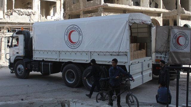 Air strikes putting Eastern Ghouta aid convoy at risk