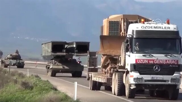 Turkey dispatches heavy machinery to troops partaking in Afrin op