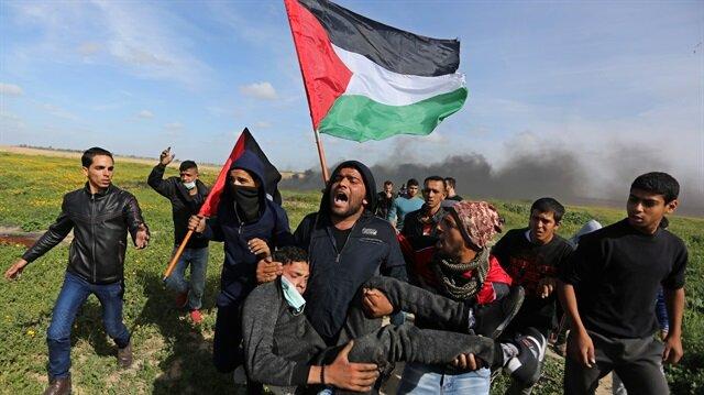 İşgalci İsrail'in Filistinlilere saldırılarında 34 kişi yaralandı