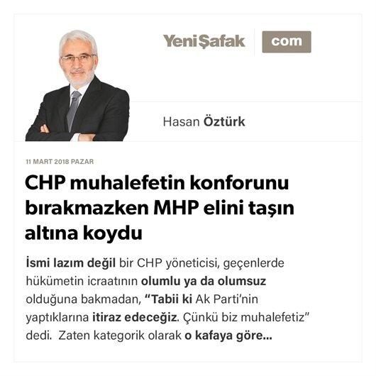 CHP muhalefetin konforunu bırakmazken MHP elini taşın altına koydu