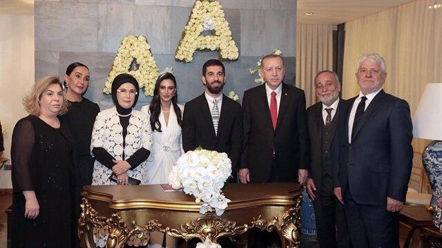 Cumhurbaşkanı Erdoğan Arda Turan'ın nikah törenine katıldı